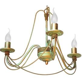 Люстра Косички на 3 лампы золото бежевый LiteKraft
