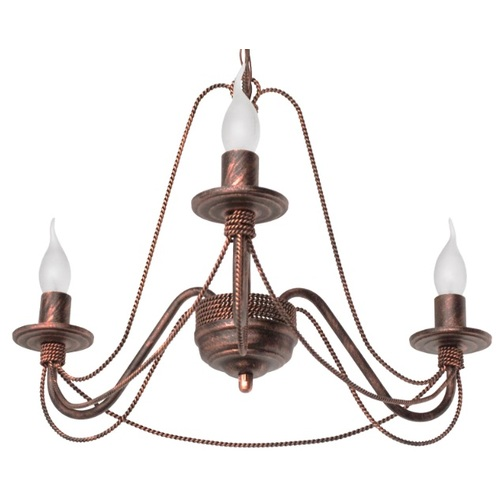 Люстра Косички на 3 лампы бронза LiteKraft