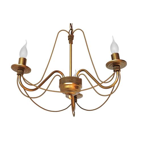 Люстра Косички на 3 лампы золото LiteKraft