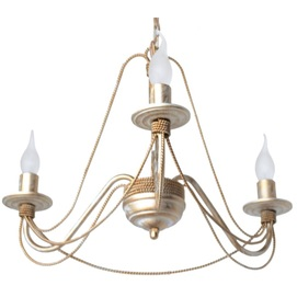 Люстра Косички на 3 лампы белый+золото LiteKraft