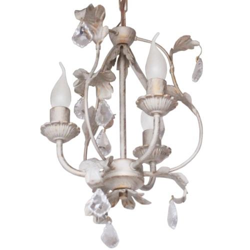 Люстра Венеция с хрусталем на 3 лампы бежевый LiteKraft