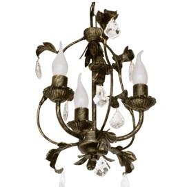 Люстра Венеция с хрусталем на 3 лампы бронзовый LiteKraft