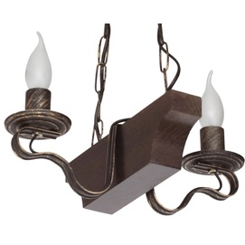 Люстра Лодочка на 2 лампочки коричневый LiteKraft