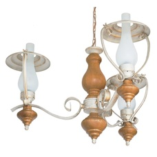 Люстра Керосинки 3 лампы бежевый LiteKraft