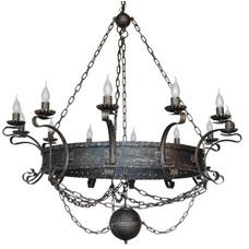 Люстра Ярославская с шаром 12 ламп бронзовый LiteKraft