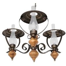 Люстра Керосинки 3 лампы коричневый LiteKraft