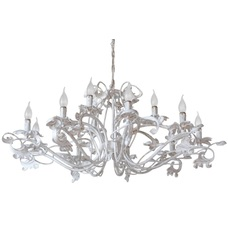 Люстра Элизабет 12 ламп белый+серебро LiteKraft
