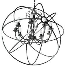 Люстра Орбита — Гироскоп 9 ламп серебро LiteKraft