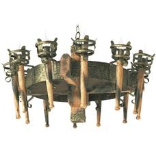 Люстра Факел Римский 12 ламп бронзовый LiteKraft