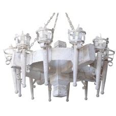 Люстра Факел Римский 12 ламп белый LiteKraft