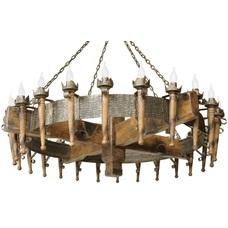 Люстра Факел Римский 24 лампы бронзовый LiteKraft