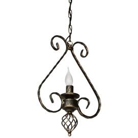 Лампа подвесная Кардинал 1 лампа бронзовый LiteKraft