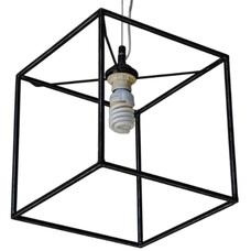 Лампа подвесная Квадратный 1 лампа черный LiteKraft