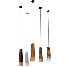 Лампа шнур Трапеция коричневый LiteKraft