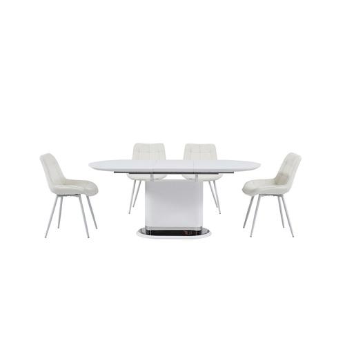 Стол обеденный раскладной ТММ-56 белый Verde 2020