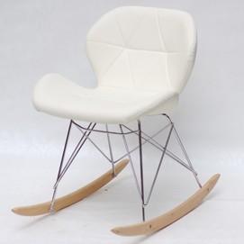 Кресло качалка Invar 9572 молочный Thexata 2020