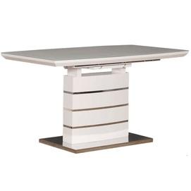 Стол обеденный раскладной Скай 140см белый Prestol