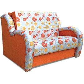 Диван двойка раскладной Эдвин-100 оранжево-серый цветной Vika