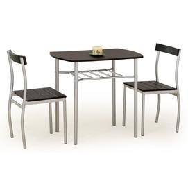 Набор LANCE стол+2стула коричневый Halmar