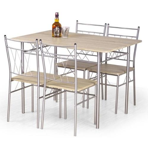Набор FAUST стол+4стула серый Halmar