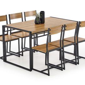 Набор BOLIVAR стол+6 стульев коричневый Halmar