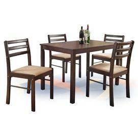 Набор NEW STARTER стол+4стула коричневый Halmar