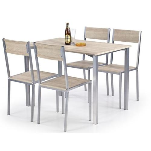 Набор RALPH стол+4стула серый Halmar