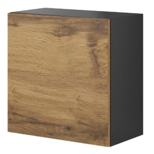 Шкаф навесной LIVO W-55 черный Halmar