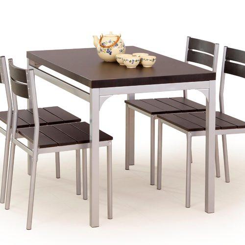 Набор MALCOLM стол+4стула коричневый Halmar