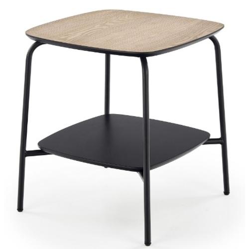 Стол кофейный GENUA LAW-1 черный Halmar