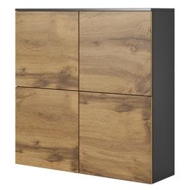 Шкаф навесной LIVO KM-100 коричневый Halmar