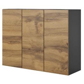 Шкаф навесной LIVO KM-120 коричневый Halmar