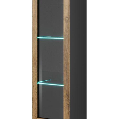 Шкаф навесной LIVO W-120 черный Halmar