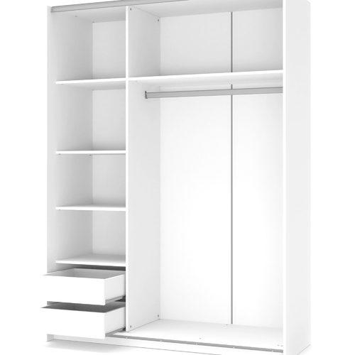 Шкаф LIMA S-1 бежевый+белый Halmar