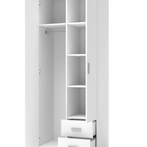 Шкаф LIMA S-2 бежевый+белый Halmar