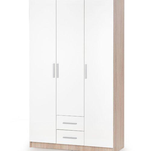 Шкаф LIMA S-3 бежевый+белый Halmar