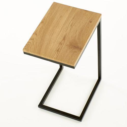 Стол приставной NISA коричневый Halmar