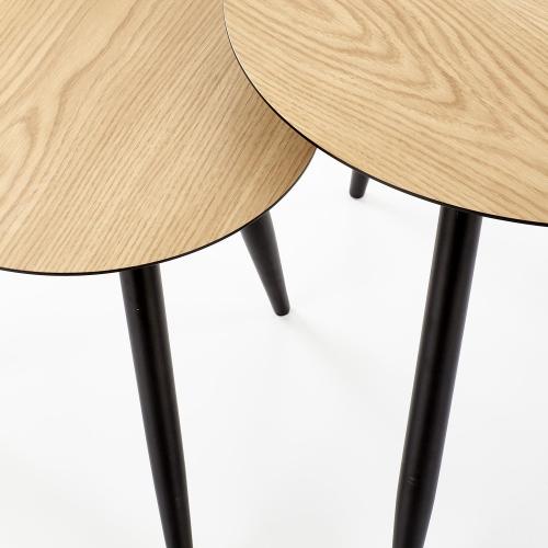 Набор столиков MENTONA бежевый Halmar