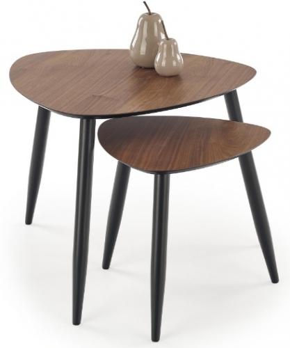 Набор столиков NICEA коричневый Halmar