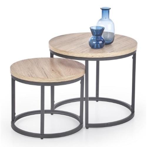 Набор столиков OREO серый Halmar