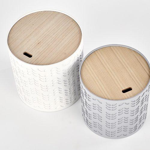 Набор столиков ALBA белый Halmar