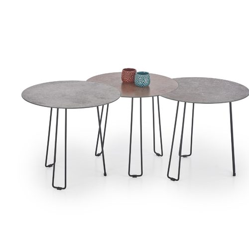 Набор столиков TRIPLE серый Halmar
