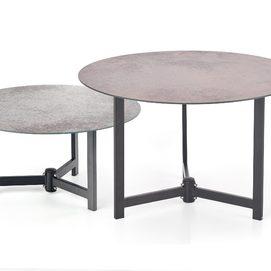 Набор столиков TWINS серый Halmar