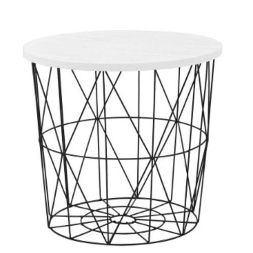 Стол кофейный MARIFFA черный+белый Halmar
