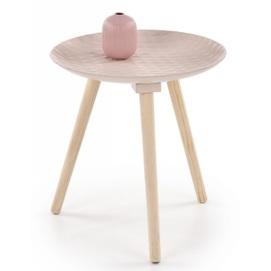 Стол кофейный BINGO розовый Halmar