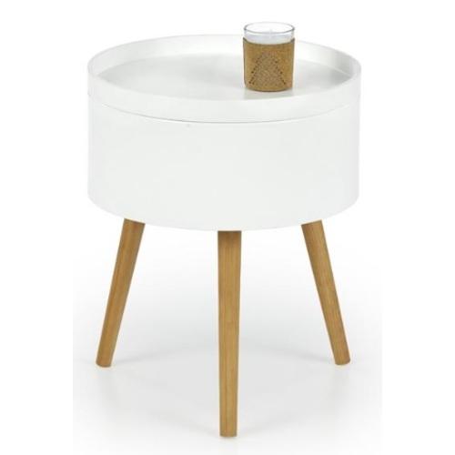 Стол кофейный SUPRA белый Halmar