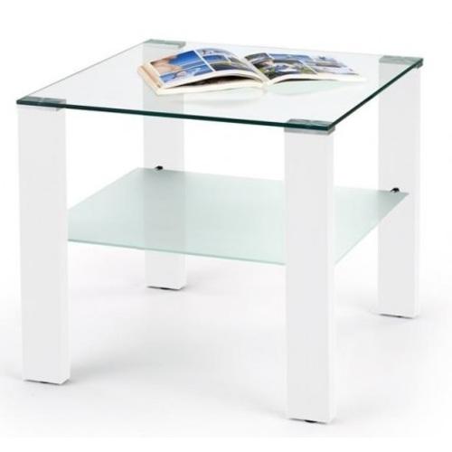 Стол журнальный SIMPLE квадрат белый Halmar