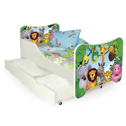 Кровать детская HAPPY JUNGLE зеленый Halmar