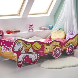 Кровать детская CINDERELLA розовый Halmar