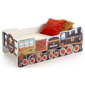 Кровать детская LOKOMO коричневый Halmar